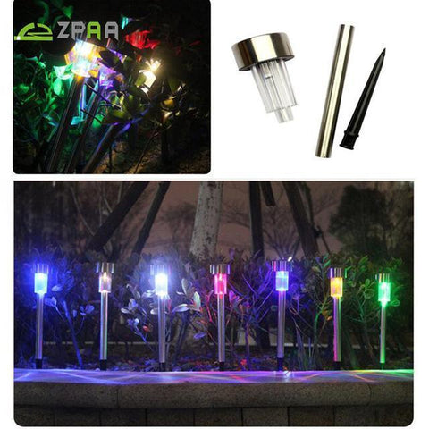 10pcs of Garden Solar Light Stainless Steel