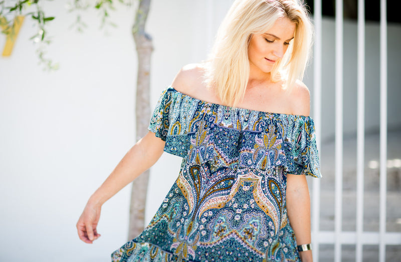 Rhapsody Off Shoulder Dress