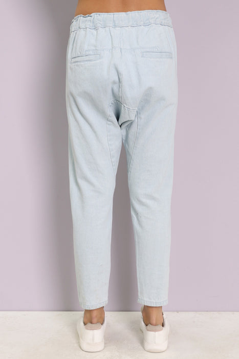 Laid Back Drop Crotch Pants - Light
