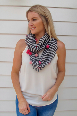 Billie Snood Scarf - Liquorice