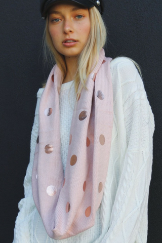 Fiona Foil Snood - Blush