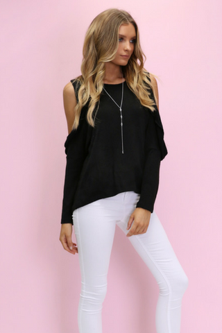 Florentine Knit Top - Black