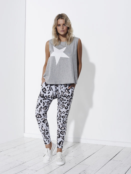 Comeback Pants - Grey Leopard