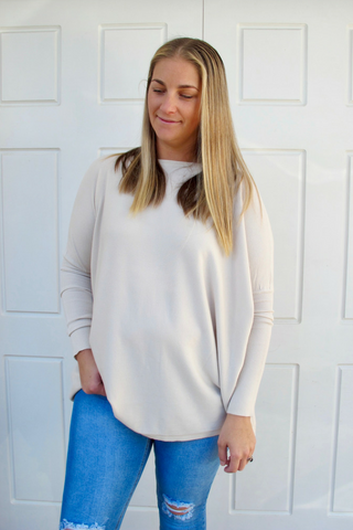 Lou Lou Slouch Knit - Nude