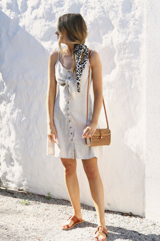 Sass Tie Front Dress
