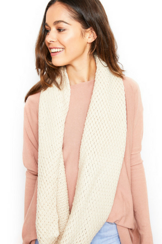 Villa Knit Snood Scarf - Beige