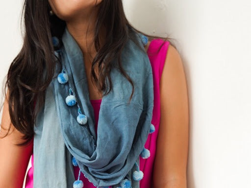 Yakap Shawl and Scarf in Malamaya (Gray)
