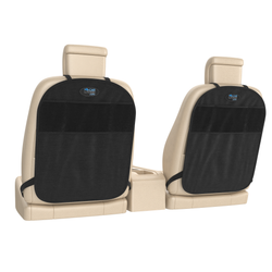 Kick Mat and Car Seat Protectors. Universal Fit with Storage Pockets, Pack of 2