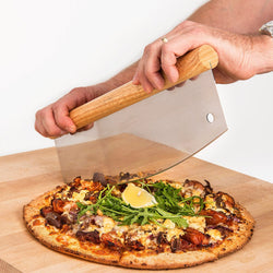 Lorrenzetti Pizza Cutter and Wheel in One. Commercial and Industrial Stainless Steel Chopper Lets You Cut Pizza Like a Pro. Best Alternative for Plastic Cutters and Mezzaluna Slicer for Your Pizza Kit