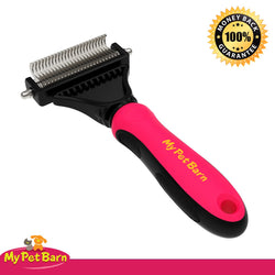 Grooming Rake & Dematting Comb. Professional Stainless Steel Deshedding Tool.