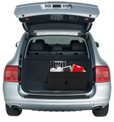 Car Trunk Organizer. Collapsible Heavy Duty Nylon Material with Sturdy Compartments and pockets.