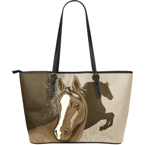 Brown Horse Leather Tote Bag - Large