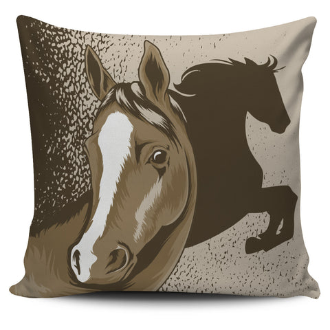 Brown Horse Pillow Cover