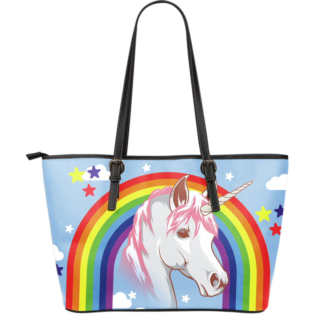 Unicorn Leather Tote Bag - Large