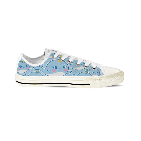 Narwhal - Women's Low Top White
