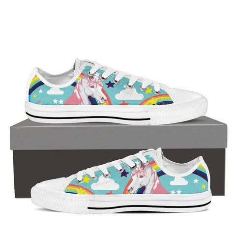 Unicorn - Women's White Low Cut