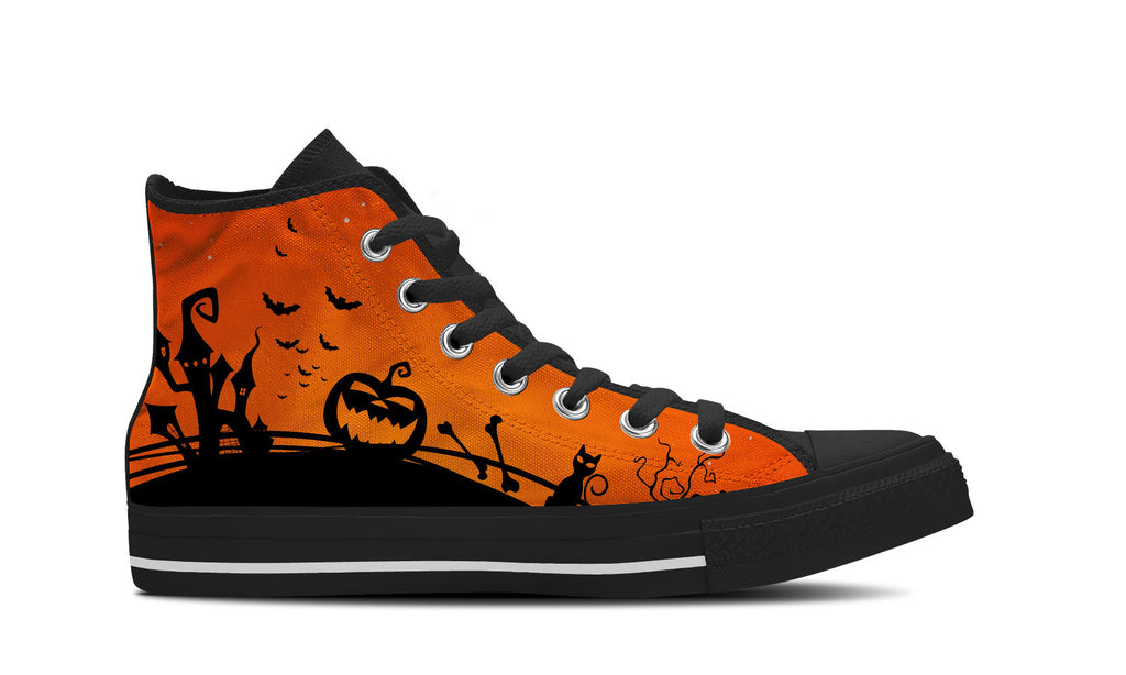 Men's Halloween High Top Canvas Sneakers