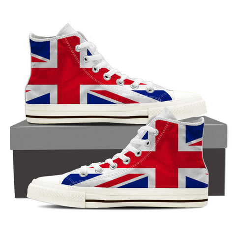 British Flag- Women's White