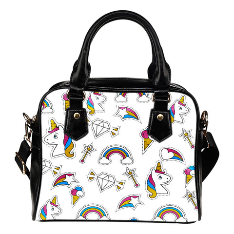 Unicorn Stickers Shoulder Handbag