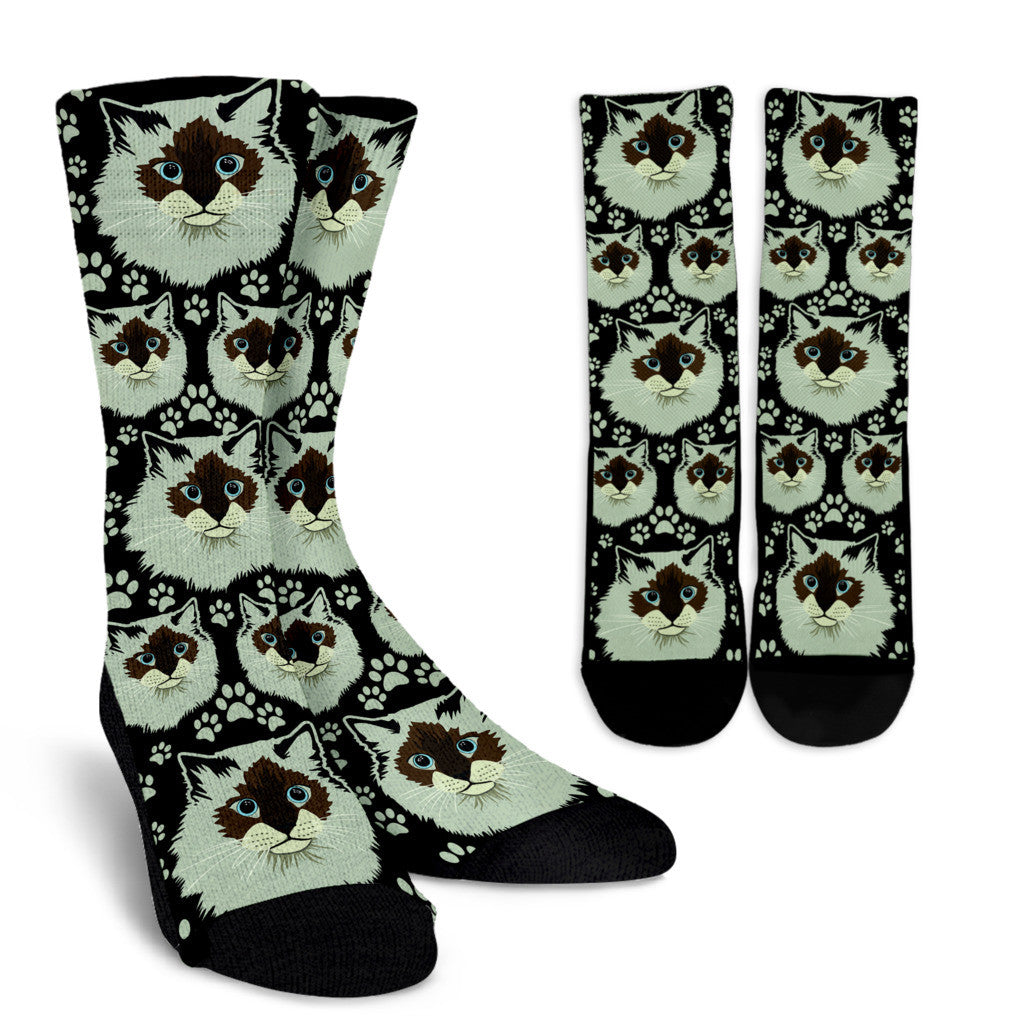 Birman Cat Crew Socks