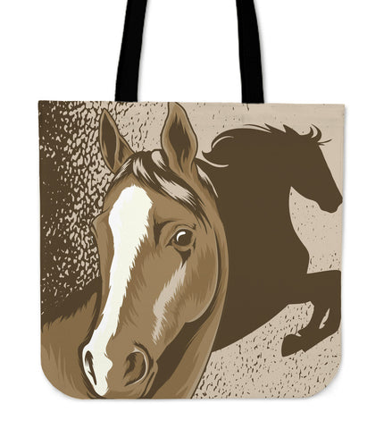 Brown Horse Tote Bag