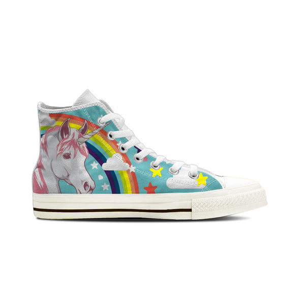 Unicorn - Men's High Top White