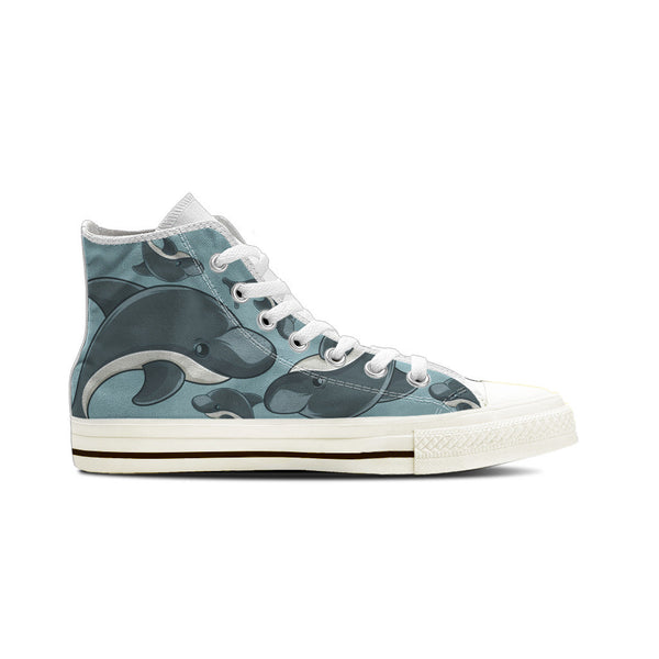 Dolphin - Women's High Top White