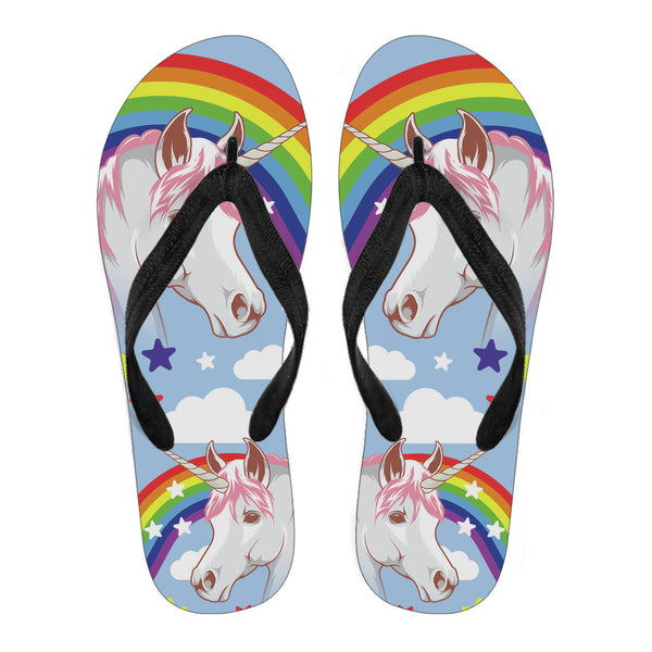 Unicorn Flip Flops - Women's