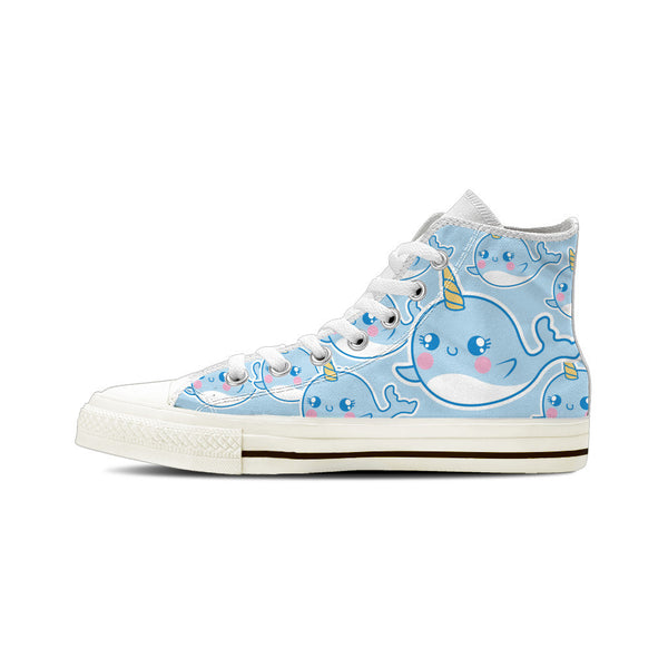 Narwhal - Women's High Top White