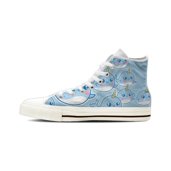 Narwhal - Men's High Top White