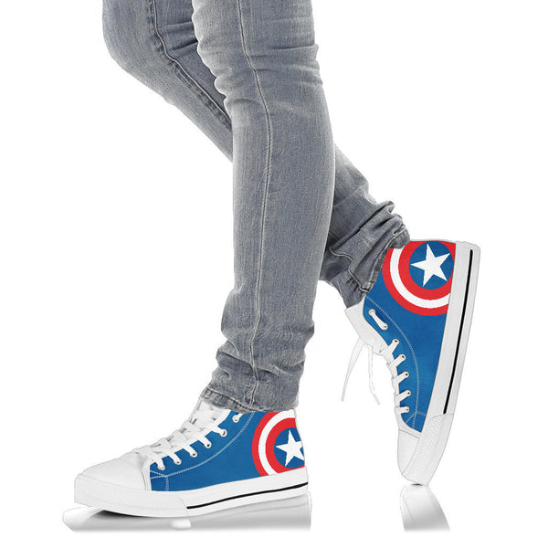 Captain America - Men's High Top