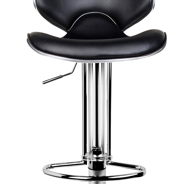2 x Black PU Leather Bar Stool - Store 84