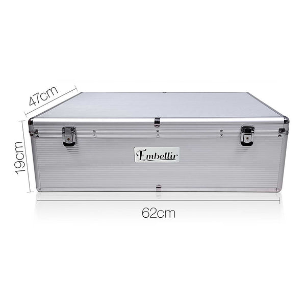 Large CD / DVD Aluminium Storage Box Case - Store 84