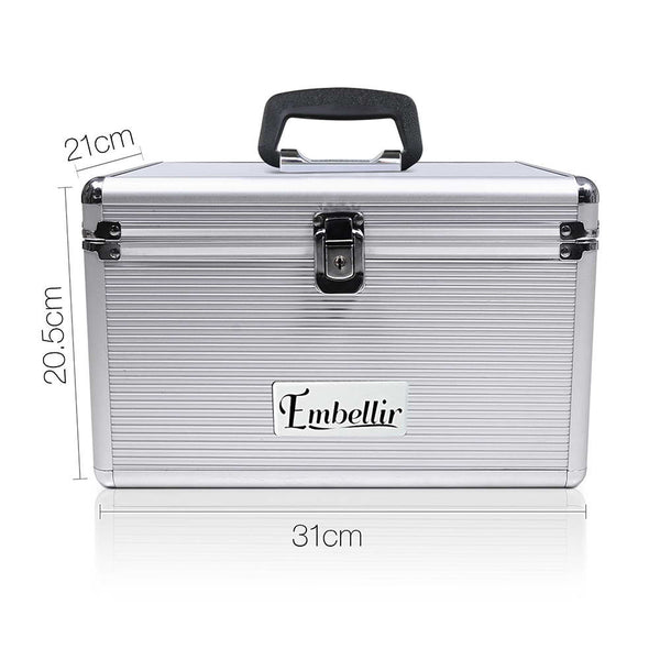 Small CD / DVD Aluminium Storage Box Case - Store 84