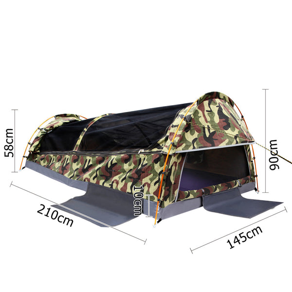 Green Camouflage Double Army Swag - Store 84