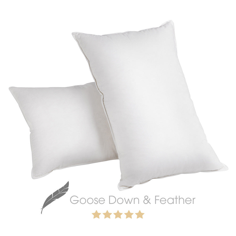 2 x Luxury Goose Down & Feather Pillows - Store 84