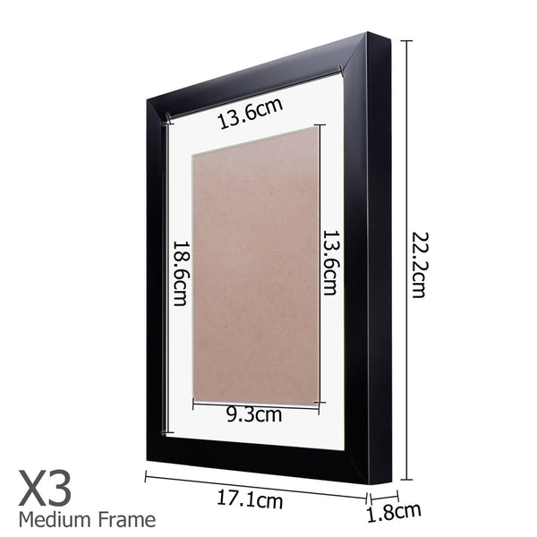 11 x Black Photo Frame Set - Store 84