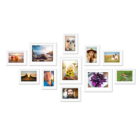 11 x White Photo Frame Set - Store 84