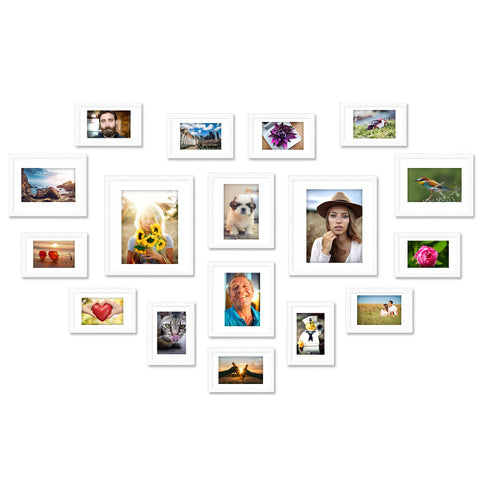 17 x White Photo Frame Set - Store 84