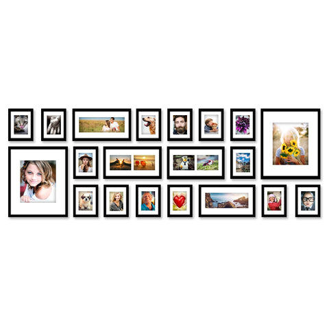 20 x Black Photo Frame Set - Store 84
