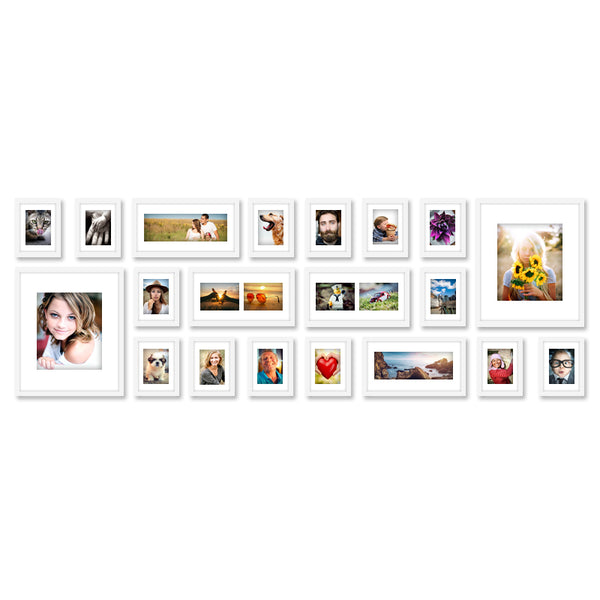 20 x White Photo Frame Set - Store 84