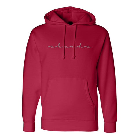 Reflective Logo Hoodie - Red