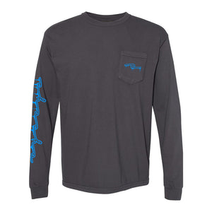 Ice Pocket Long Sleeve Grey/Blue