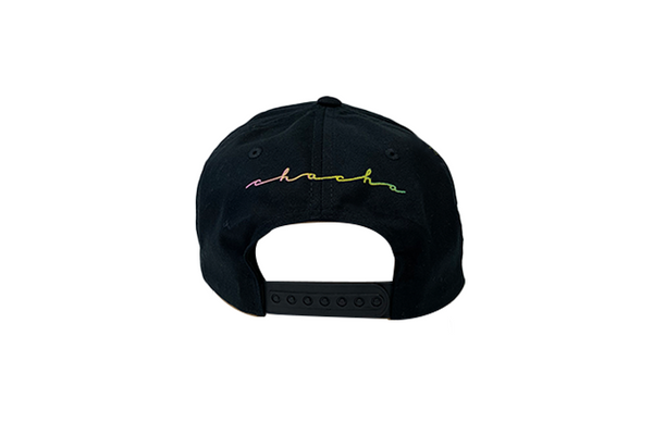 Gradient Black Snap Back Hat