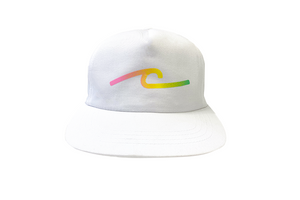 Gradient White Snap Back Hat