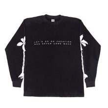 Vacation Long Sleeve Tee (Black)