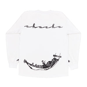Vacation Long Sleeve Tee (White)