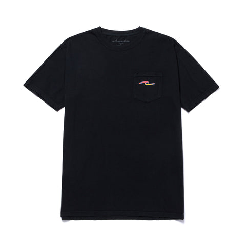 FLAME POCKET TEE - BLACK