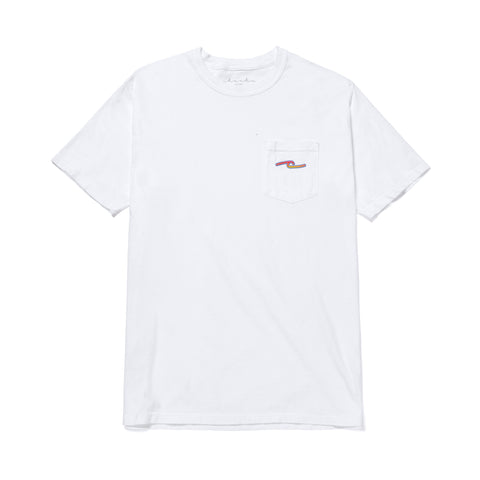 FLAME POCKET TEE - WHITE