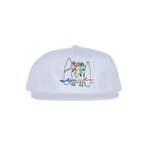 Beach Babes Snap Back - White